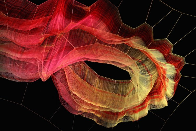 Floating Sculpture By Janet Echelman Art + Graphics