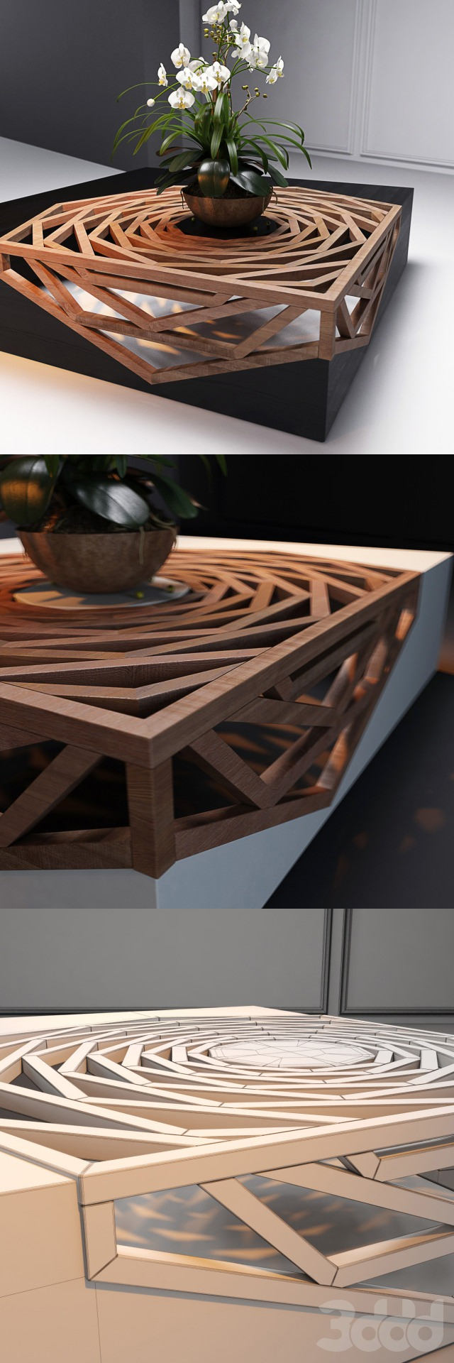 Gorgeous design wood coffee table gift ideas creative for Creative design table