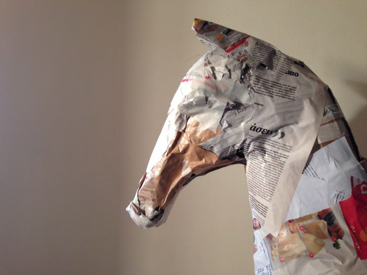 Paper Mache Horse Sculpture Animals + Nature