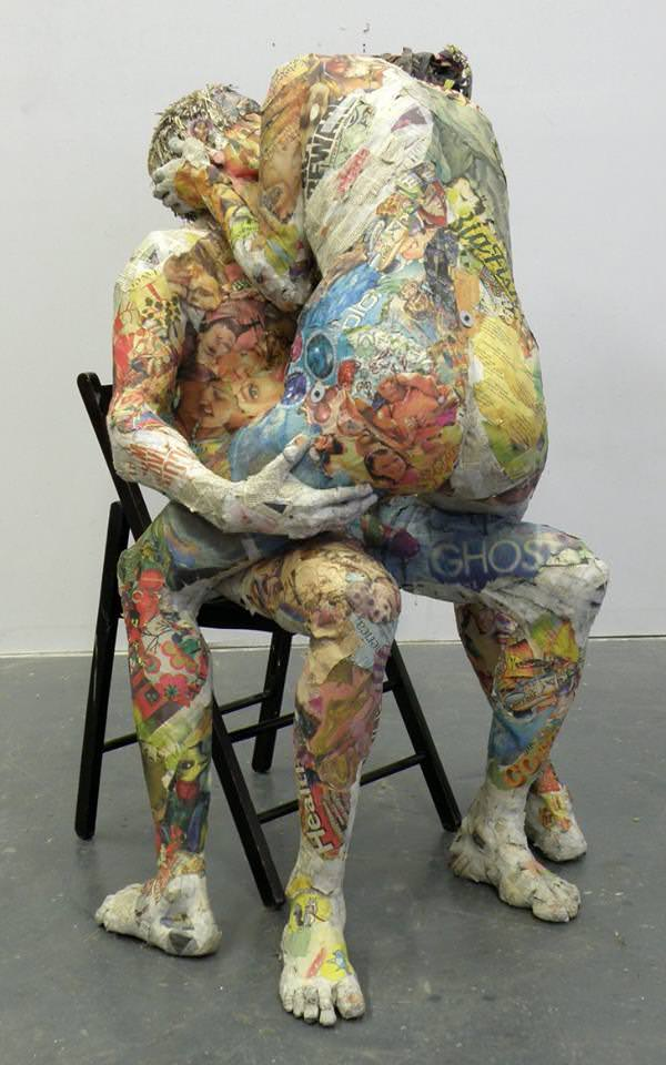 awesome newspaper sculptures by will kurz gift ideas creative spotting. Black Bedroom Furniture Sets. Home Design Ideas