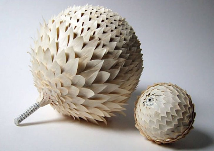 Paper Art Made From Recycled Old Books by Cecilia Levy Art + Graphics