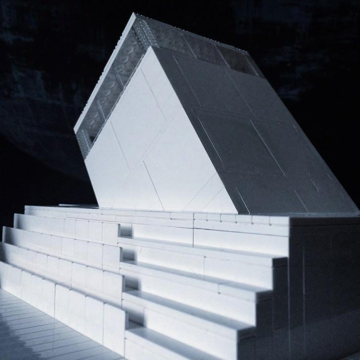 Futurist Buildings Made From Lego Bricks Art + Graphics