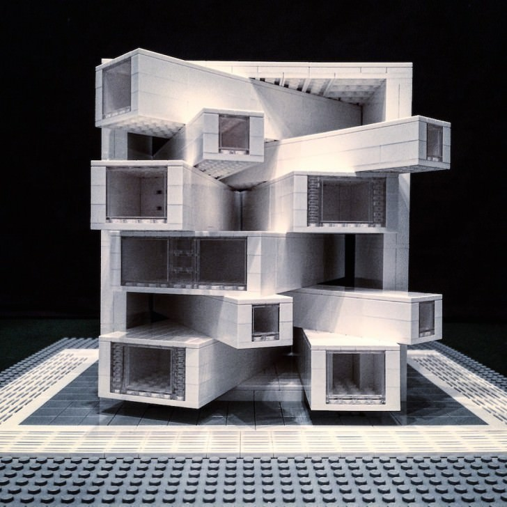 Futurist Buildings Made From Lego Bricks Art + Graphics