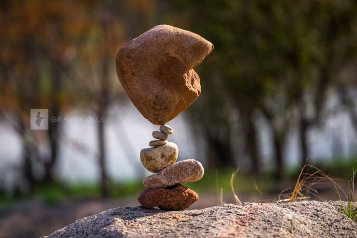 Piles of Stones in a Delicate Balance Art + Graphics