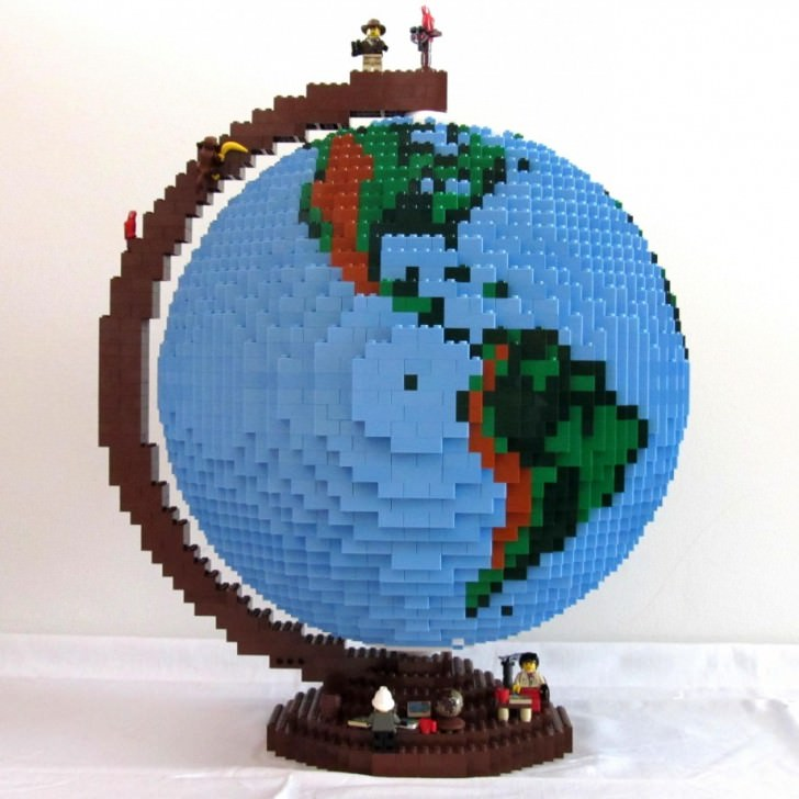 The Lego Globe From 3863 Bricks Geek Universe