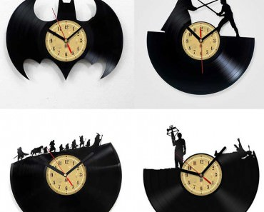 Handmade Design Vinyl Record Clock