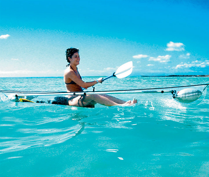 The Transparent Canoe Kayak Offers Incredible Views of the Ocean Below Funny