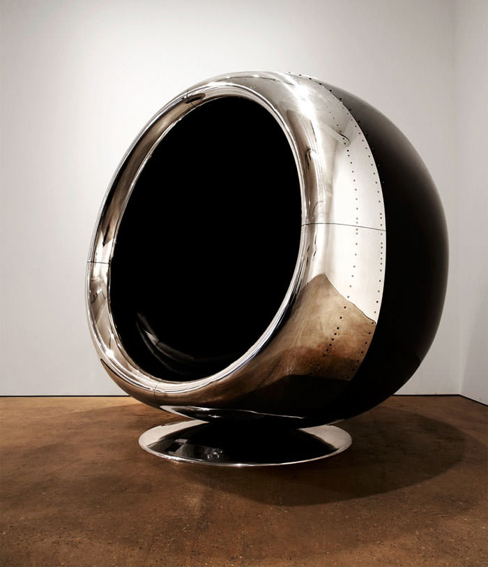 One-of-a-kind Chair Made From A Recycled Boeing 737 Engine Design Sustainability