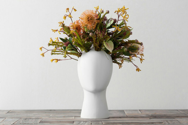 Brilliant: Putting Plants in a Head-shaped Vase Design