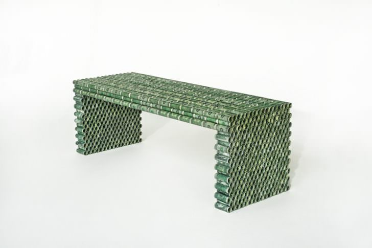 Design Household Furniture Made From Coins & Dollar Bills by Rolf Bruggink Design