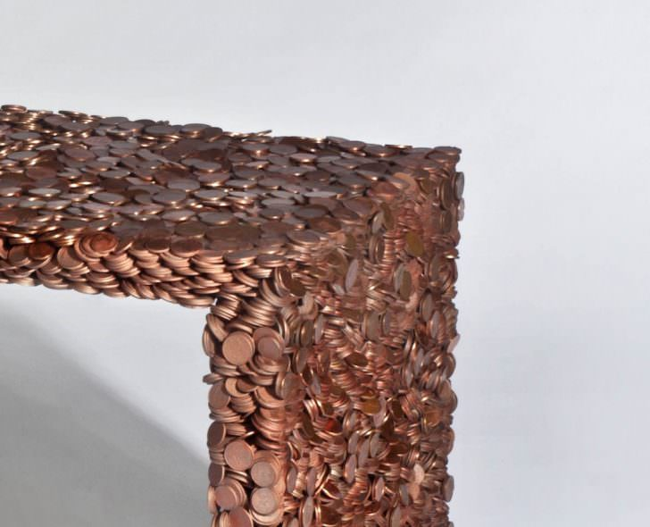 Design Household Furniture Made From Coins Amp Dollar Bills