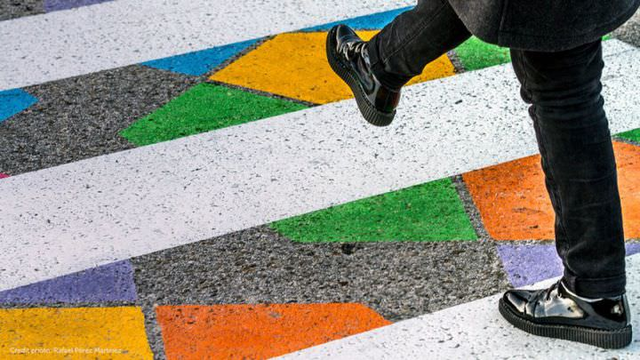 Amazing Colored Crosswalks in Madrid Art + Graphics