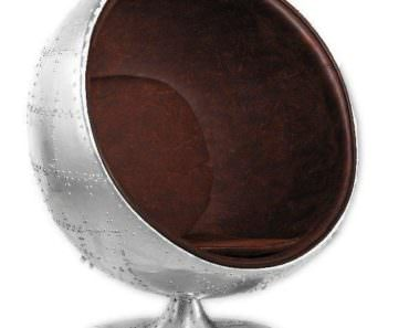 Vintage Aviator Aluminium Egg Chair
