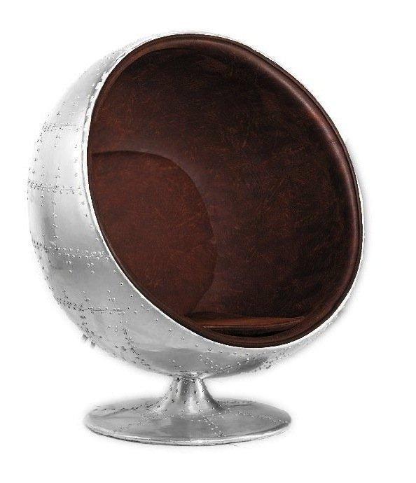Vintage aviator aluminium egg chair gift ideas for Lesesessel design
