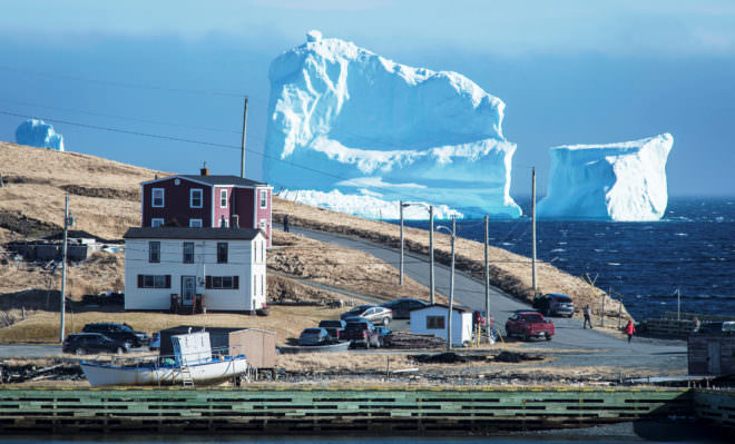 An Enormous Hunk of Ice Gets Stuck in Iceberg Alley Photography