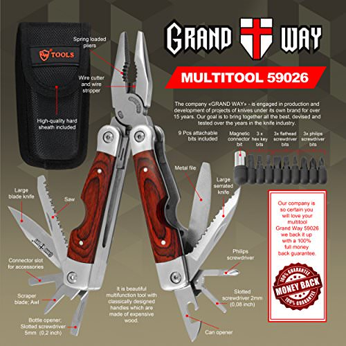 Best Wood Handle Multi Tool 23 In 1 With Knife And Plie