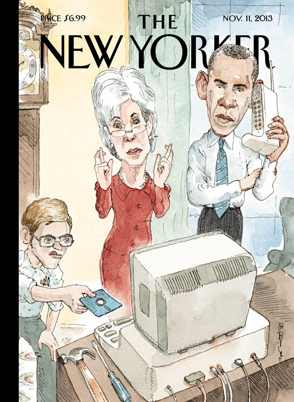 """new Yorker"" Cover Lampoons Obamacare Website Mess Photography"