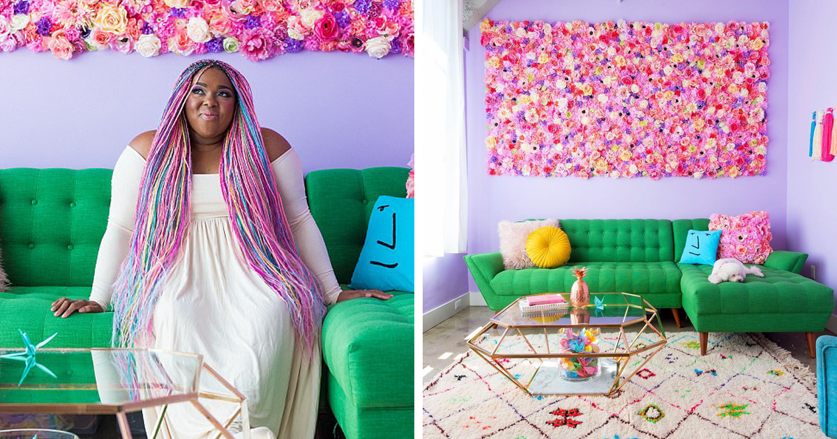 This Woman Has The Most Colorful Apartment You Ve Ever