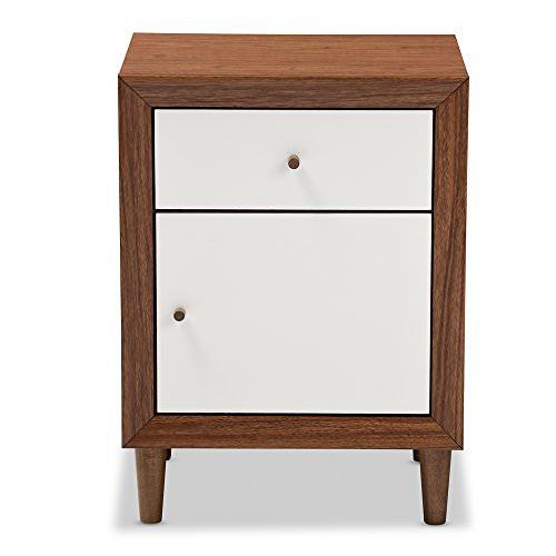 Baxton Furniture Studios Harlow Mid Century Wood 1 Draw