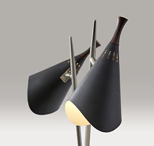 Adesso 3235-01 Draper 2-light Desk Lamp, Smart Outlet C ...