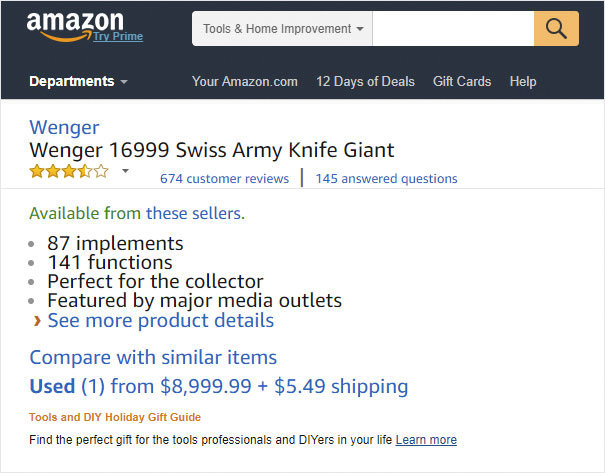 People Can't Stop Trolling This 00 Swiss Army Knife On Amazon, And Here Are 46 Of The Funniest Reviews Funny