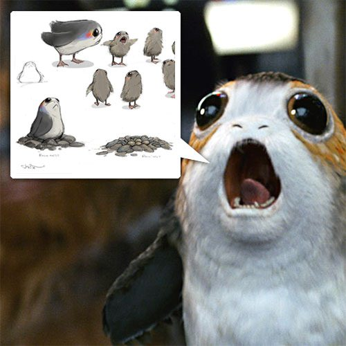 Porgs! Basically Star Wars Puffins… Love That The Easier, Awesomer Solution To Digitally Erasing Or Physically Removin… – #63011 Design