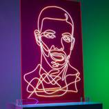 Electrifying Neon Portraits of Rap Artists – Fubiz Media Design