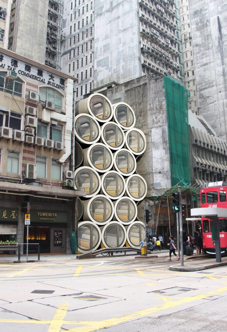 Incredible Concrete Tubes Appartments Concept – Fubiz Media Design