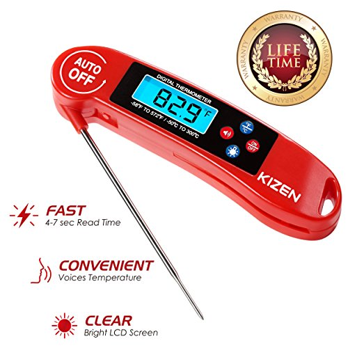 kizen instant read meat thermometer best super fast t gift ideas creative spotting. Black Bedroom Furniture Sets. Home Design Ideas