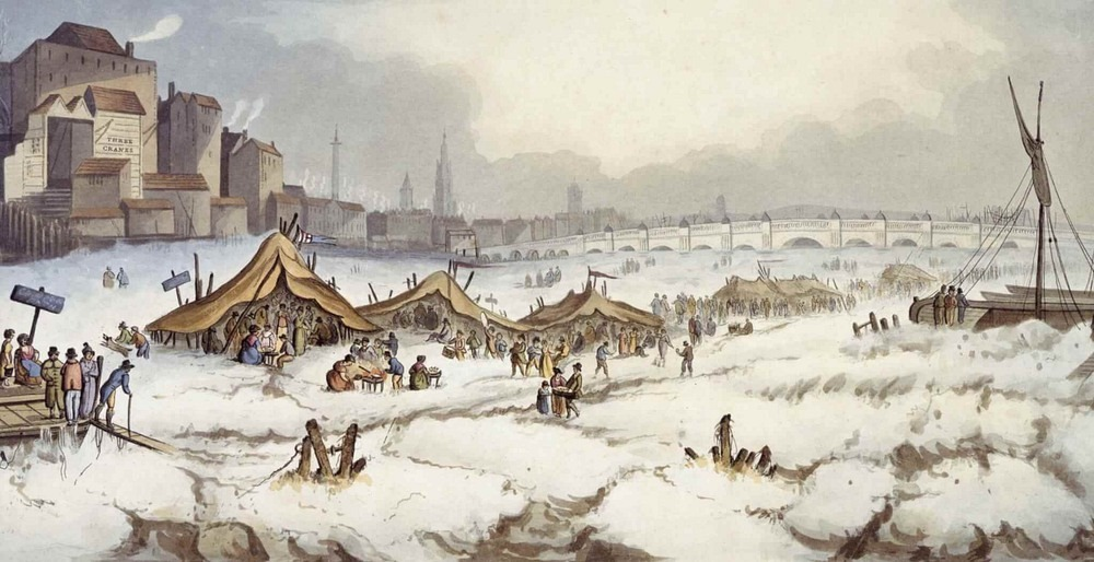 The Frost Fairs of River Thames Photography