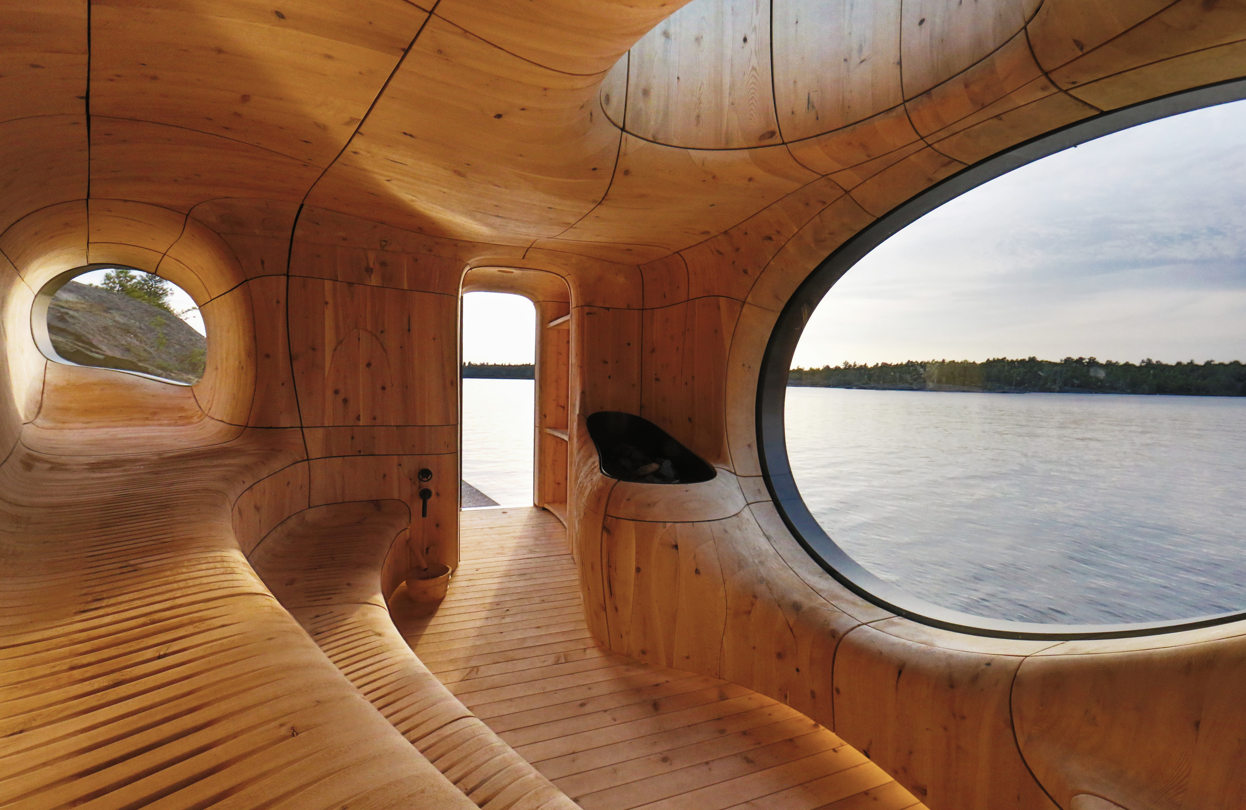 Gorgeous Canadian Grotto Sauna – Fubiz Media Design