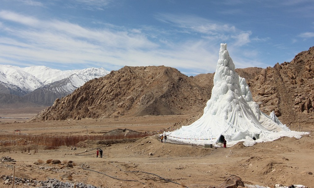 Ice Stupas: These Artificial Glaciers Are Solving Water Crises in The Himalayas Photography