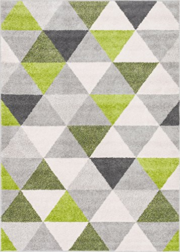 Isometry Green Amp Grey Modern Geometric Triangle Pattern