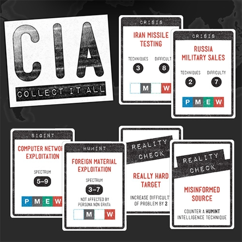 Cia: Collect It All Is A Competitive Card Game Based On The Cia Game Collection Deck. Players Take On The Role Of Agents… – #63209 Design