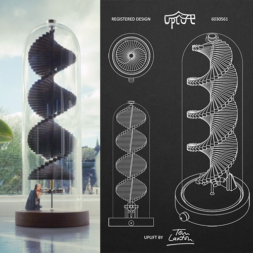 Uplift: A Spiralling Solar Sculpture To Soothe The Soul By Tom Lawton. Powered By The Sun, Uplift's Relaxing Motion Crea… – #63210 Design