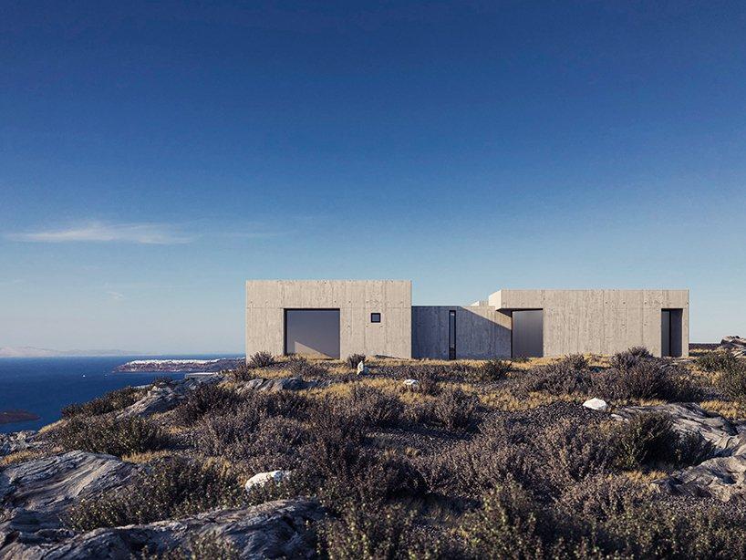 Brutalist Architecture at the Top of Santorini – Fubiz Media Design