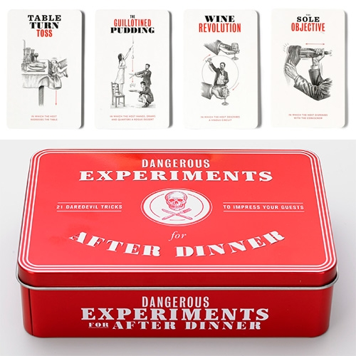 "Dangerous Experiments For After Dinner – ""Twenty-one Beautifully Illustrated Cards Detail Each Challenge, Which Are All … – #63342 Design"