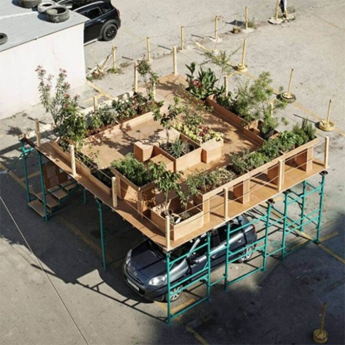 Urban Hives By Nathalie Harb At Beirut Design Week Proposes To Reintroduce The Garden In Parking Lots. The Proposed Car-… – #63356 Design
