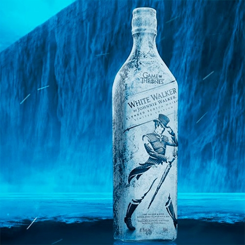 "Limited Edition White Walker By Johnnie Walker For The Final Season Of Game Of Thrones. ""The Limited Edition Bottle Util… – #63377 Design"