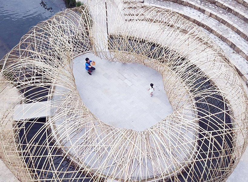 Spectacular Pavilion Entirely Made of Bamboos Design