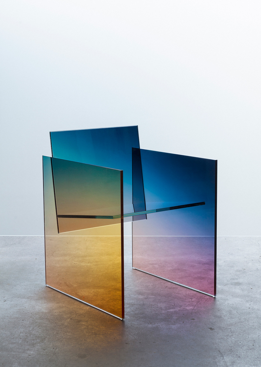 Colored Glass Chair by Germans Ermics – Fubiz Media Design