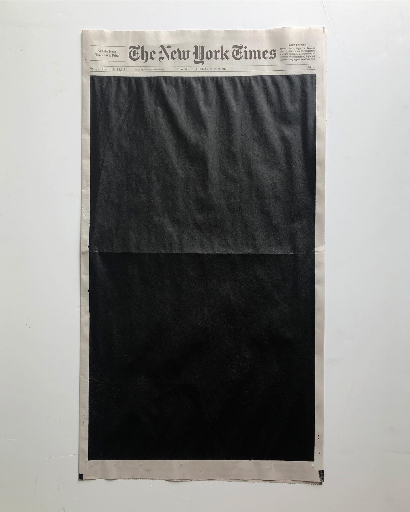 Colour Gradation on New York Time's Front Page – Fubiz Media Design